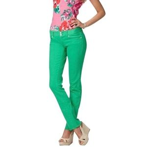 Lilly Pulitzer Kelly Green Straight Leg Jeans